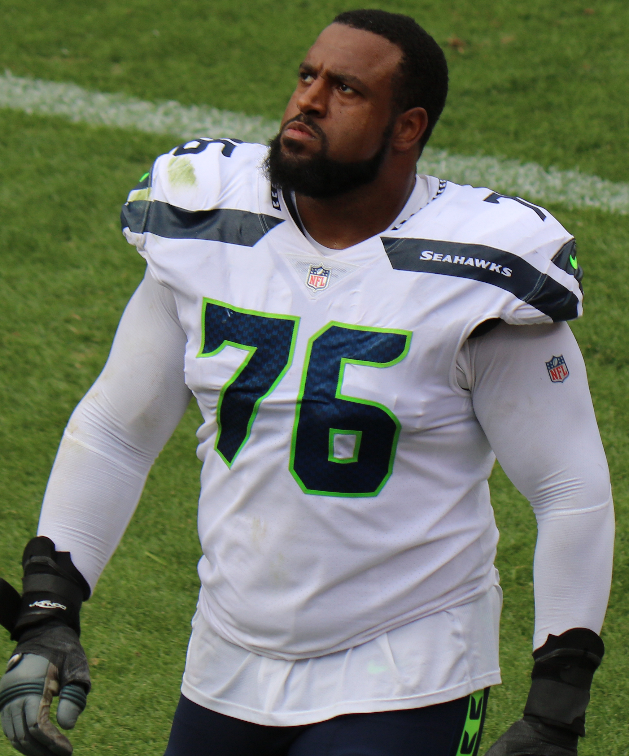 Brown with the Seattle Seahawks in 2018