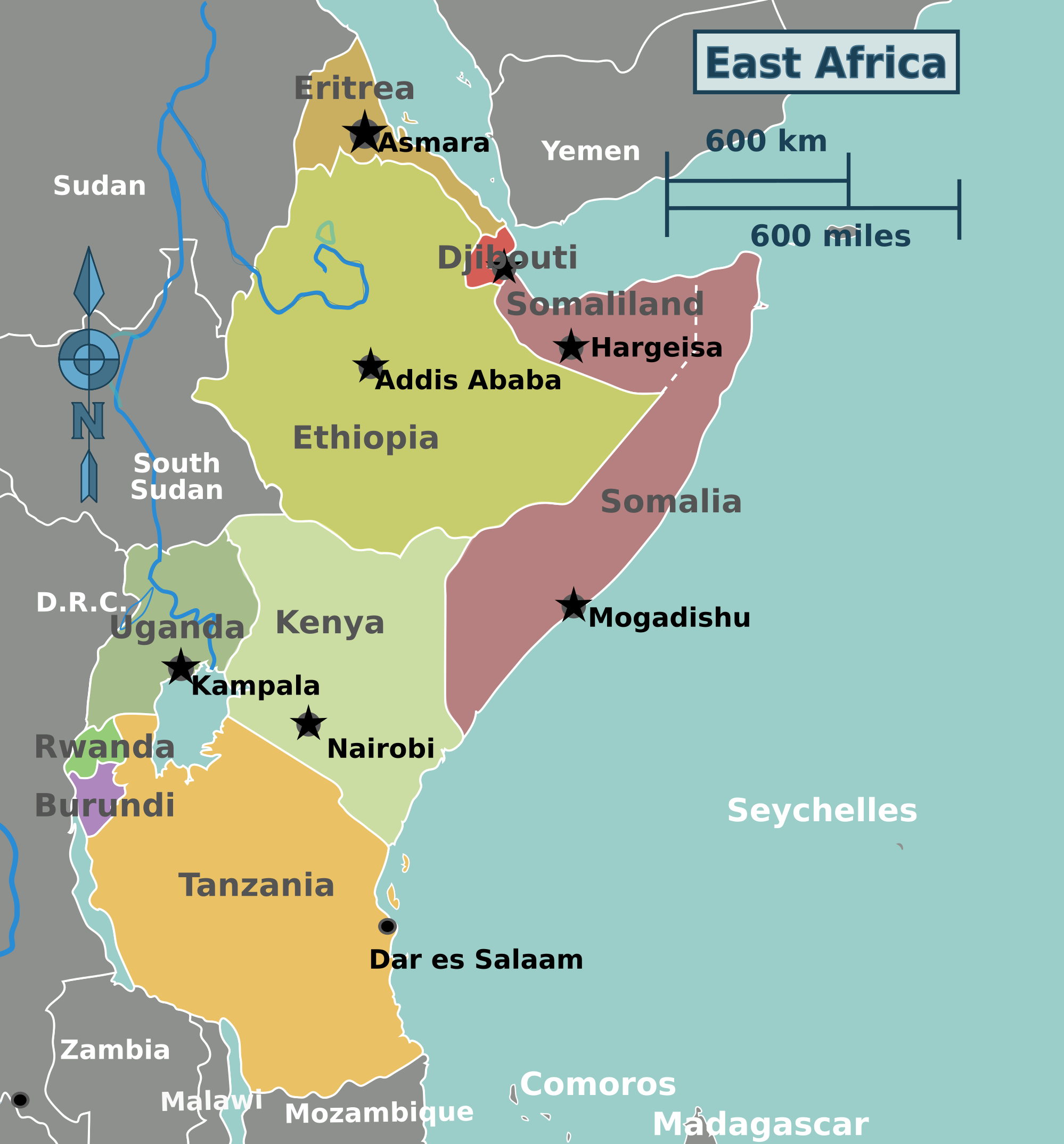 FileEast Africa Regions Mappng Wikimedia Commons - Map of eastern africa