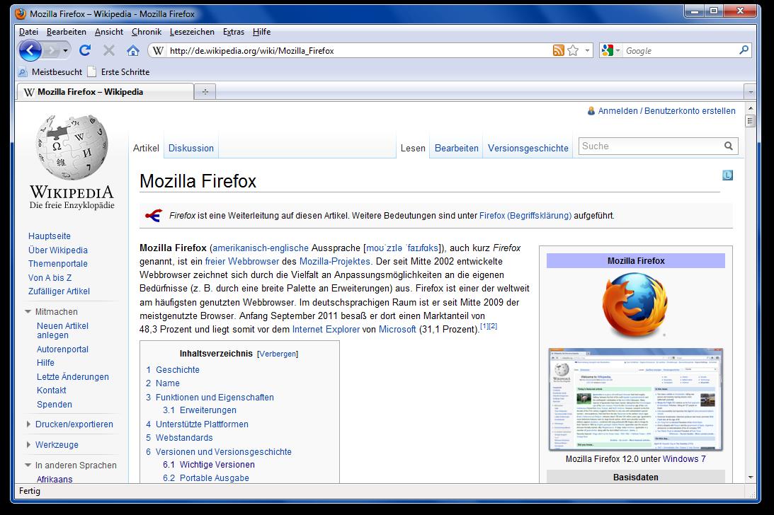 mozilla firefox 3.6.16