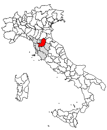 Map of Florence/Italy area: