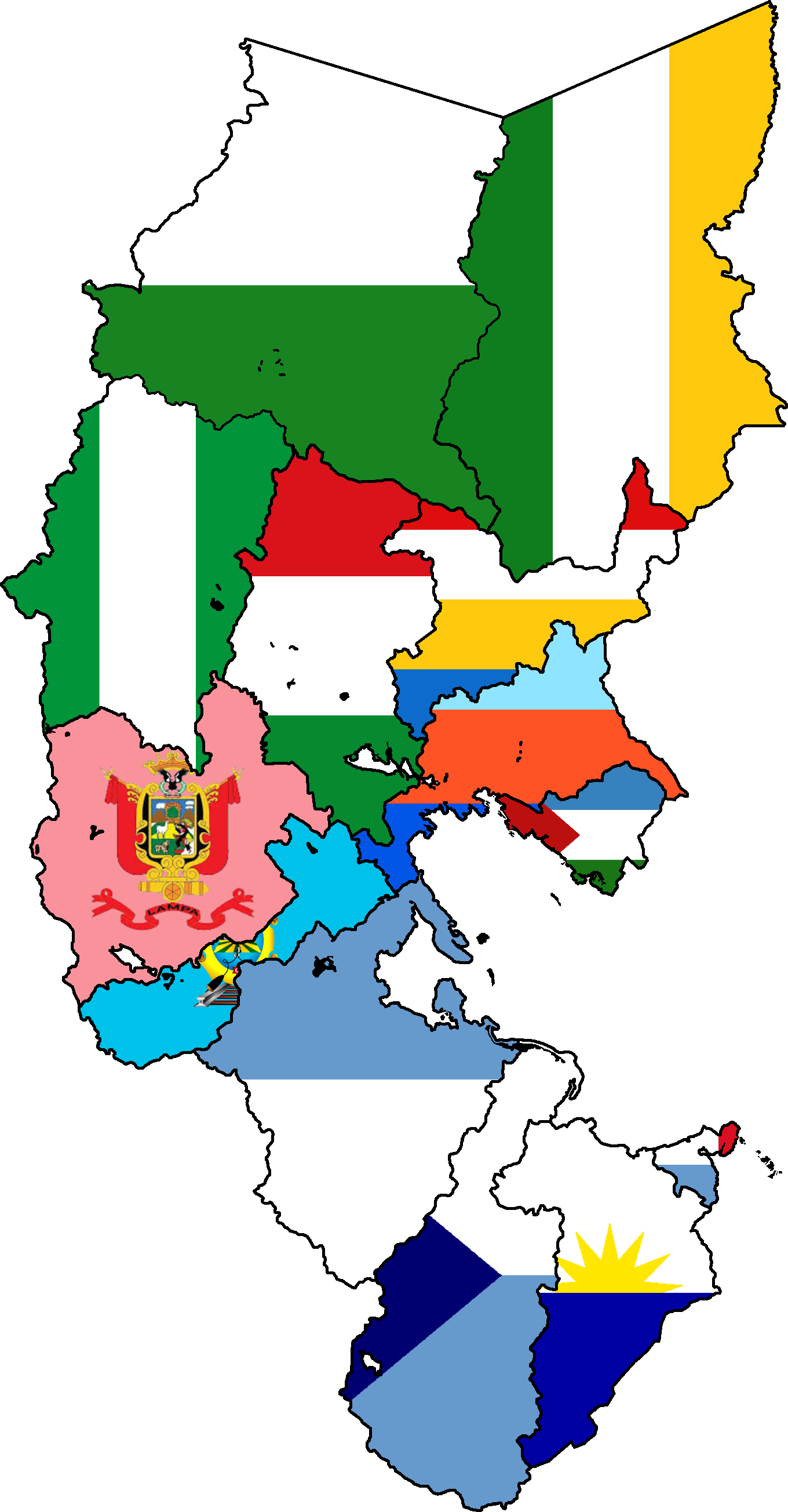 Flag map of provinces of Puno.png