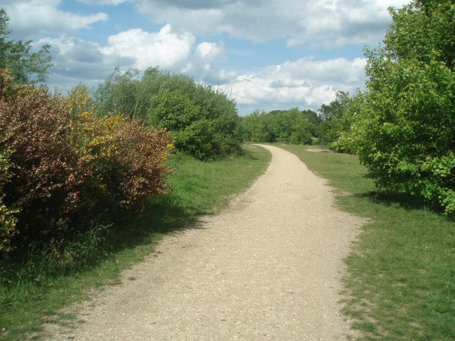 Footpath round the lake at Dinton Pastures - geograph.org.uk - 1314635