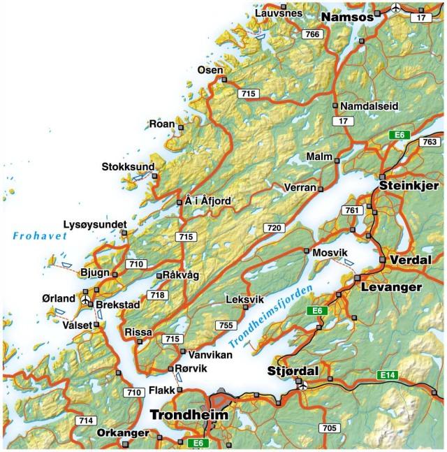 fjorder i norge kart Trondheimsfjorden – Wikipedia fjorder i norge kart