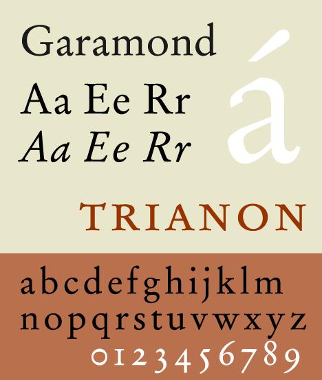 Garamond, a Garalde typeface