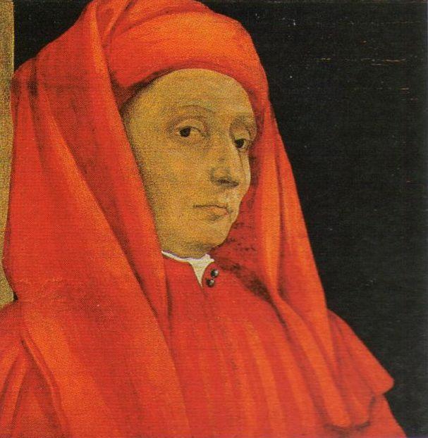 Портрет Джотто. Деталь картины «Пять основателей флорентийского искусства», конец XV— начало XVIвв.[1]