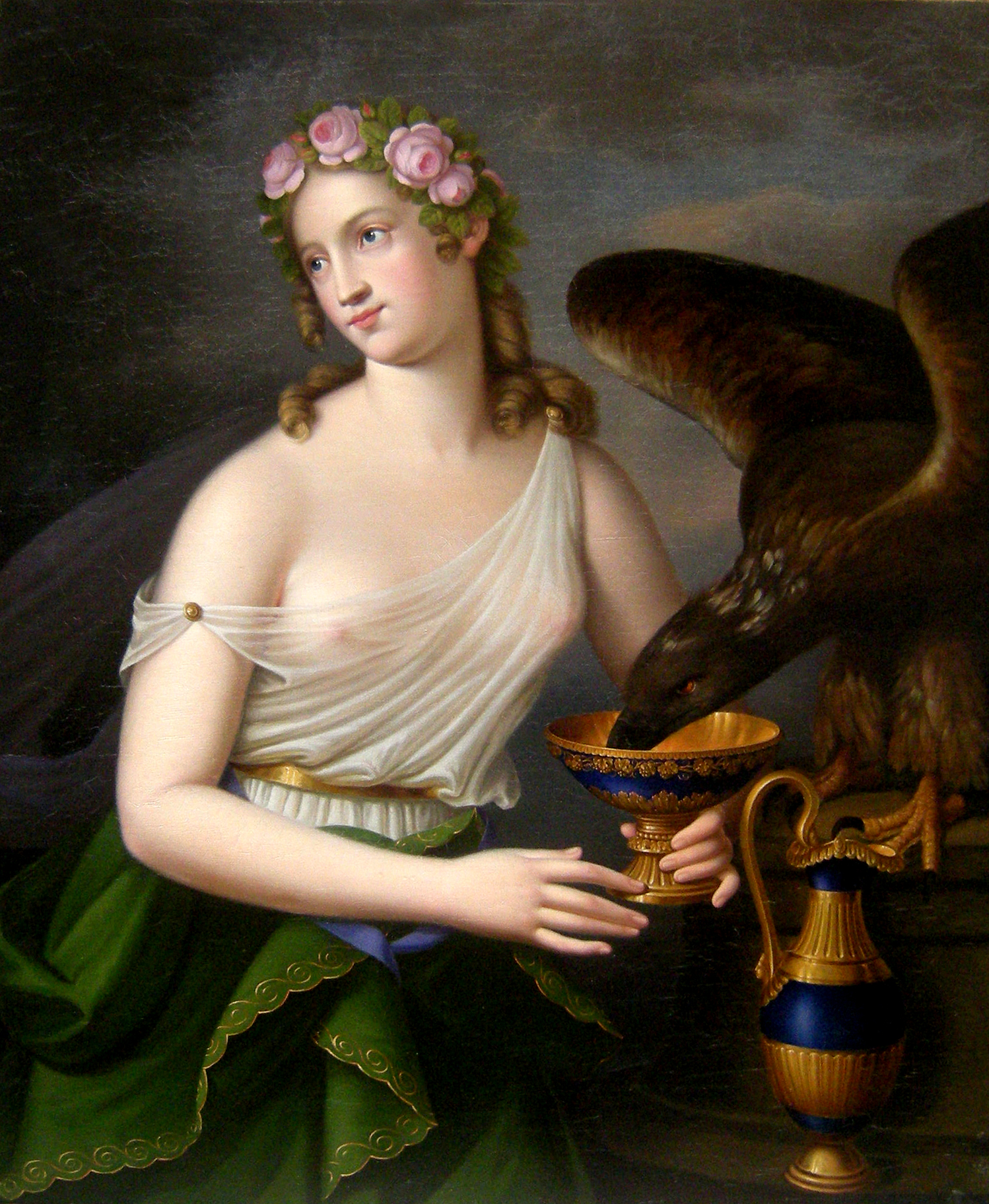 file goddess of youth and cupbearer hebe and eagle of zeus by