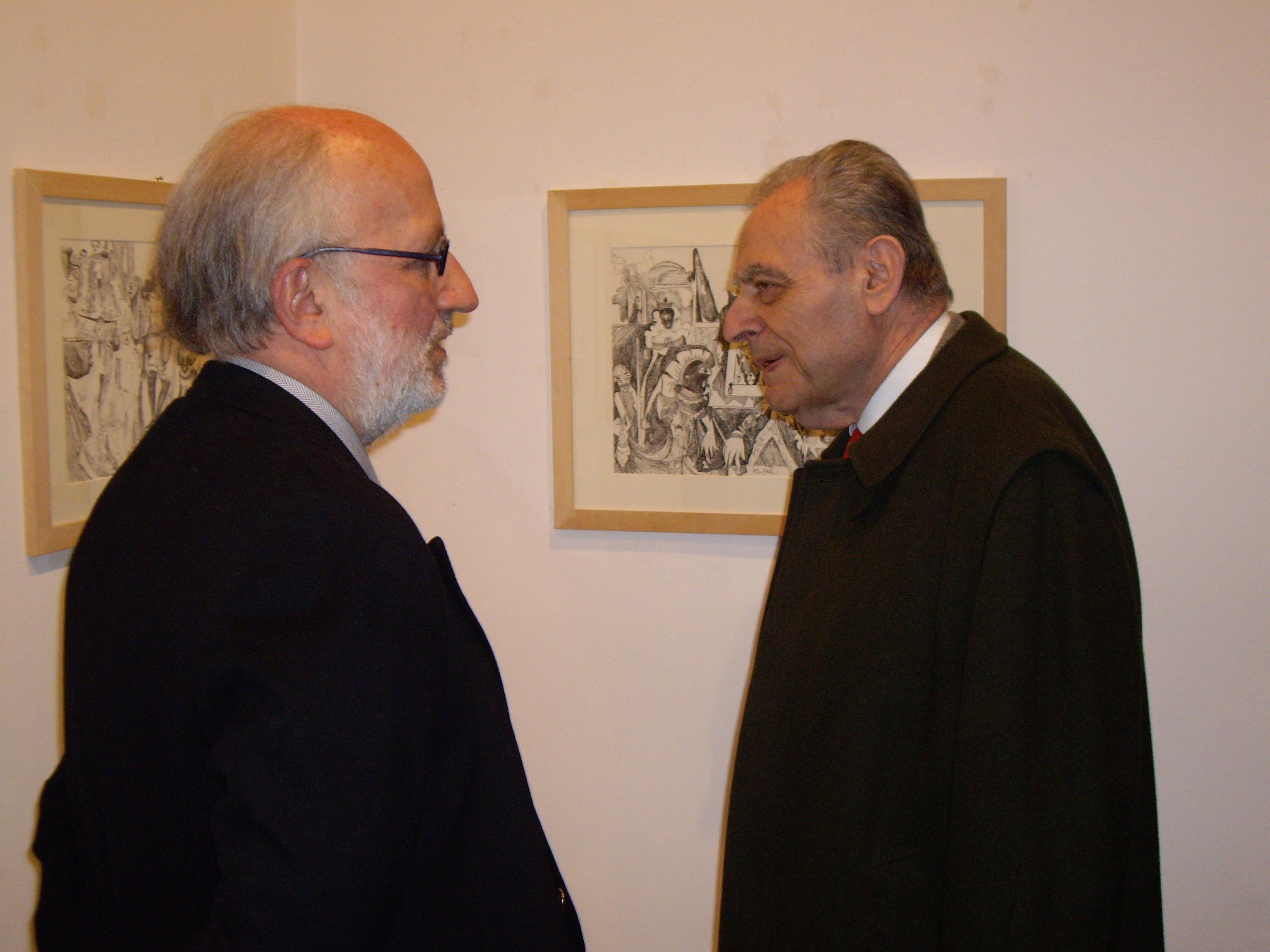 Cesare Segre at right