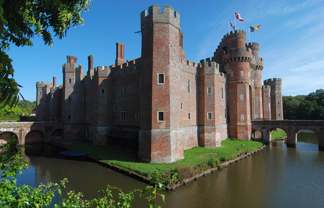 Herstmonceux Castle and moat - geograph.org.uk - 1530793