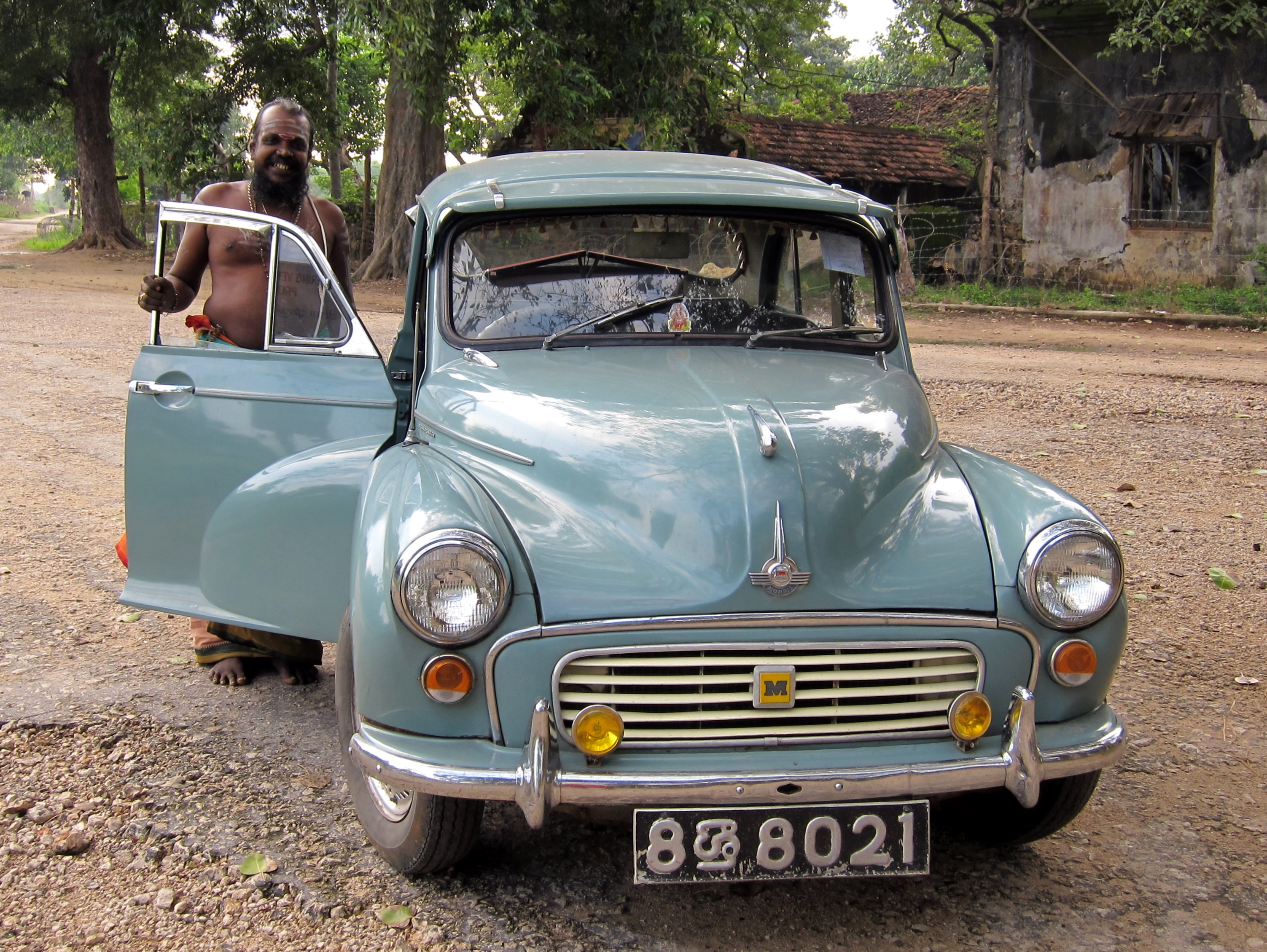 File:Hindu Priest, Classic Car.jpg