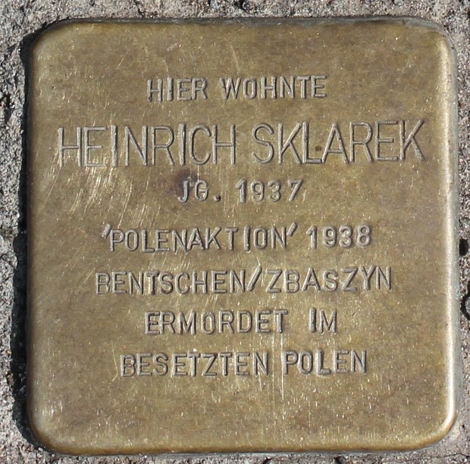 Stolperstein für Heinrich Sklarek