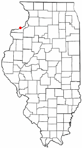 Location of Rock Island, Illinois