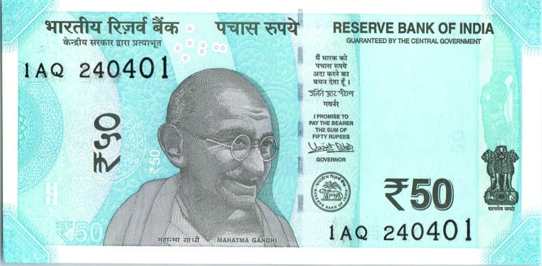 Indian 50-rupee note - Wikipedia