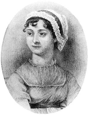 Jane Austen portrait victorian engraving