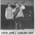 """Leda y Maria en las Jornadas del Nuevo Mundo del Niño con """"Canciones para mirar""""-Necochea-1960"""