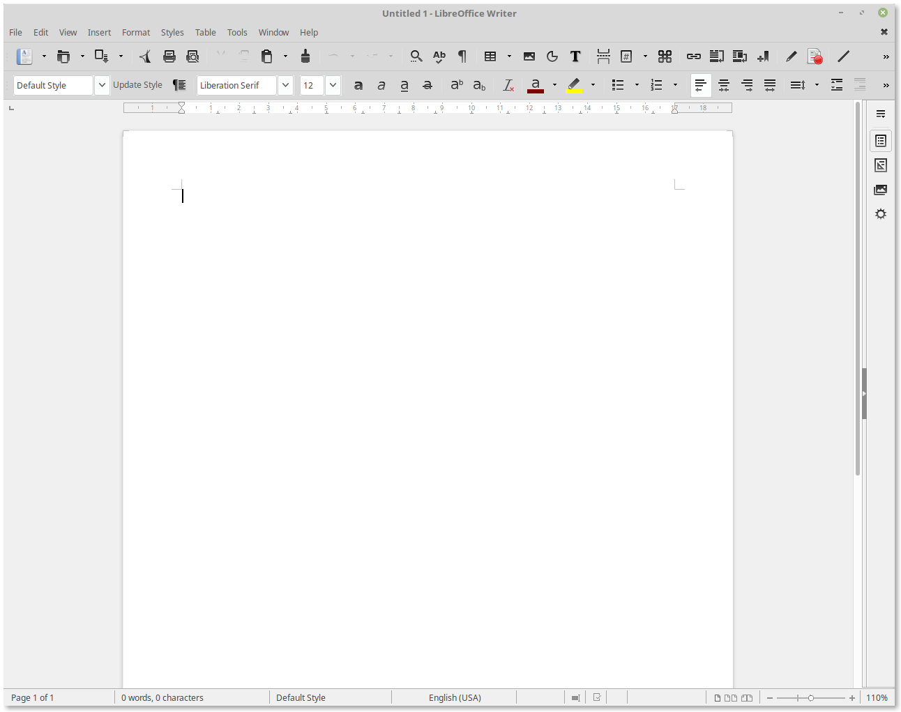 libre office 5.1.6.2