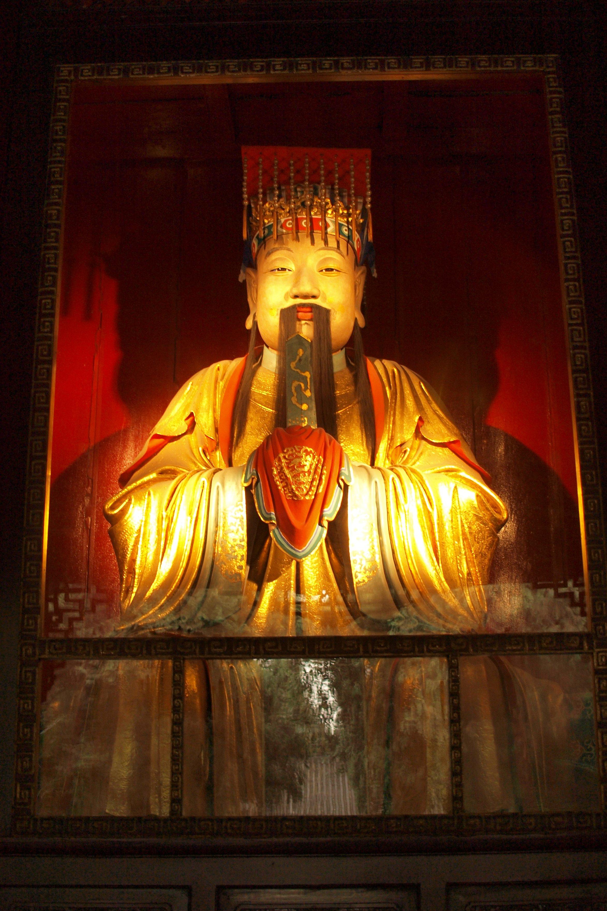 成都武侯祠の劉備像