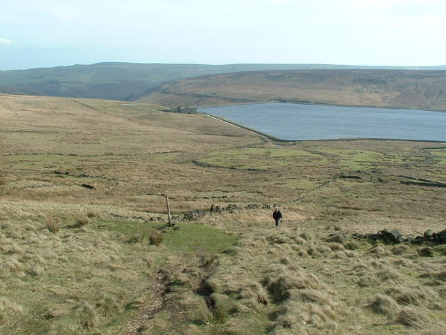 Looking back towards Withins Clough Reservoir - geograph.org.uk - 365769