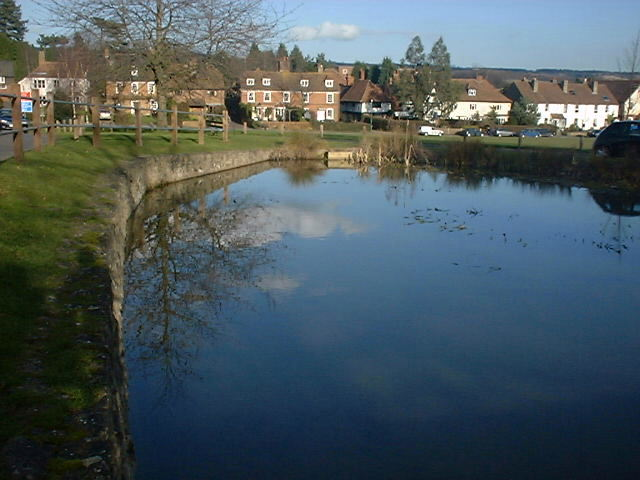 Looking over Bearsted Pond towards Bearsted Green - geograph.org.uk - 245781