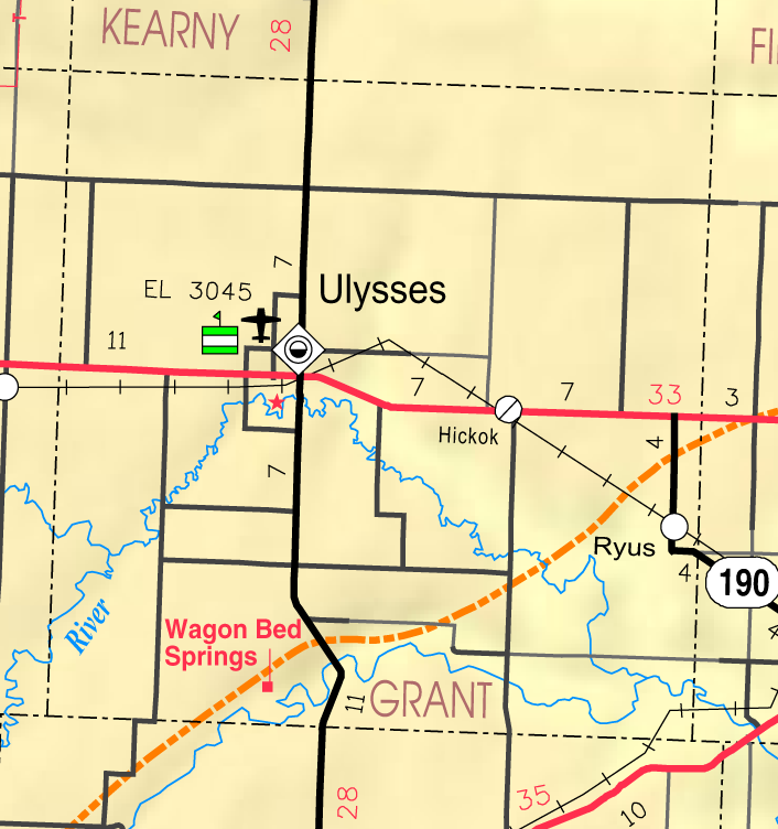 Ulysses, Kansas - Wikipedia on grant ne map, grady county oil lease map, ulysses ks map, oklahoma section map, south west nh map,