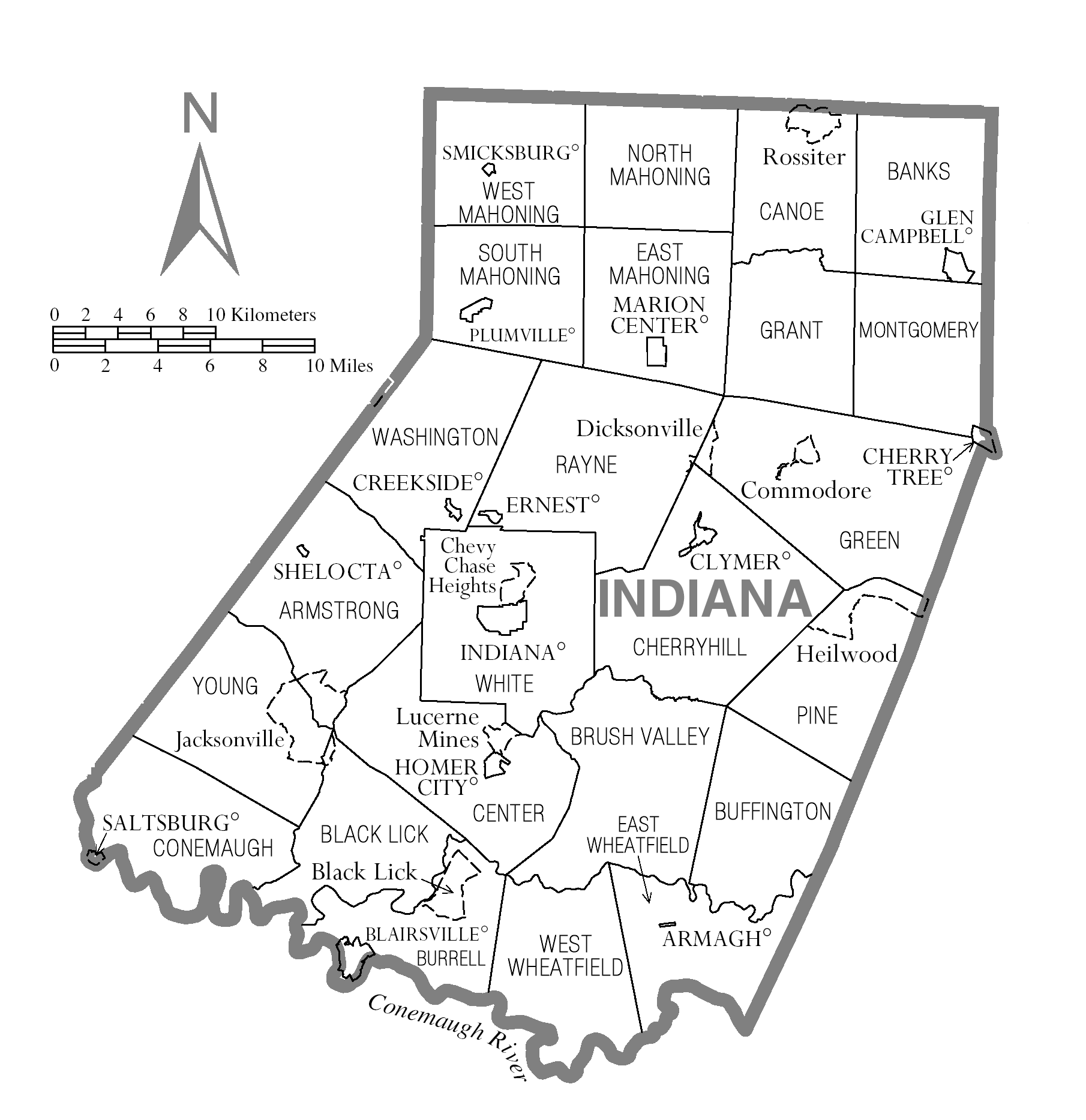 FileMap Of Indiana County Pennsylvaniapng Wikimedia Commons - Map of indiana county us census