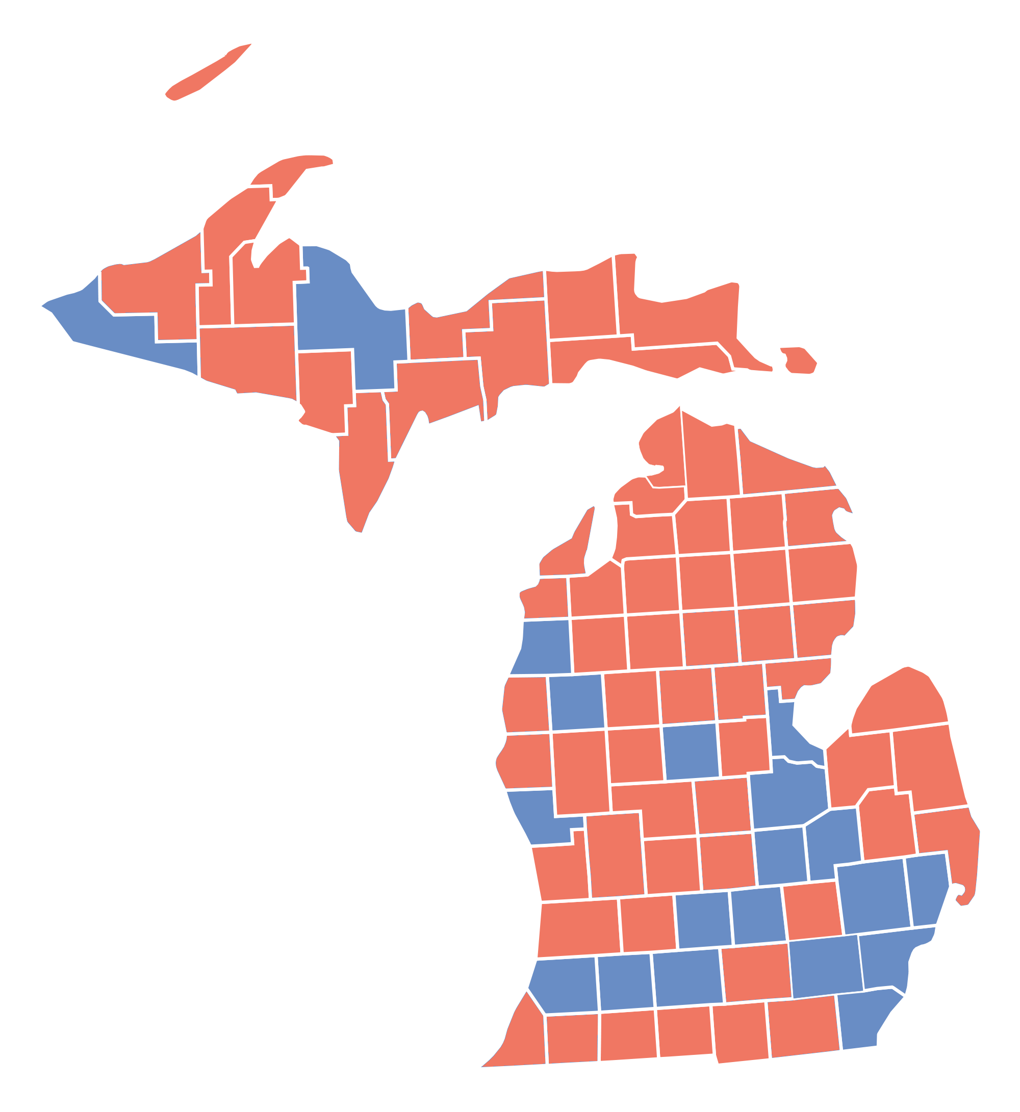 FileMichigan Presidential Election Results By County