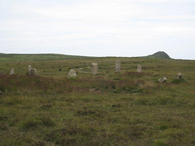 Nine Maidens stone circle at Boskednan - geograph.org.uk - 846607