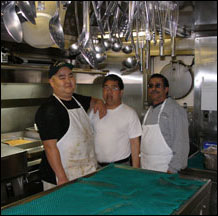 An SA works closely with the chief cook and chief steward.