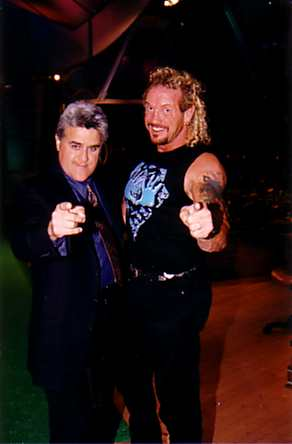 English: 1998 - Diamond Dallas Page with Jay Leno.