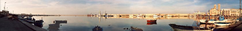 Panoramica del porto e di parte del borgo antico.