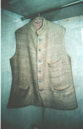 The coat of Sardar Patel, on display at the Sardar Vallabhbhai Patel National Memorial, Ahmedabad