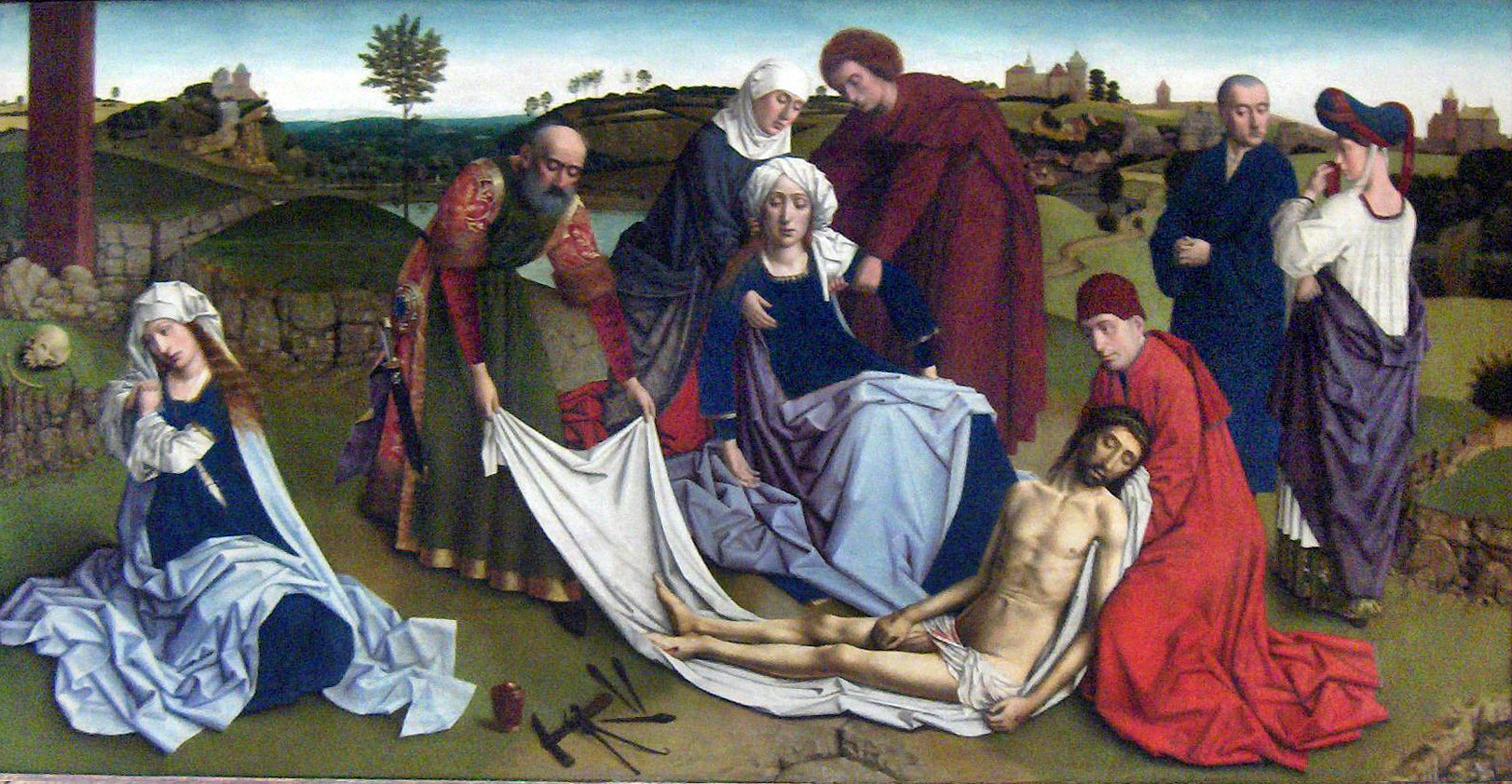 Art history symbolism and legends mary magdalene blue color of lamentation by petrus christus via wiki commons click on the picture to view it larger biocorpaavc Image collections