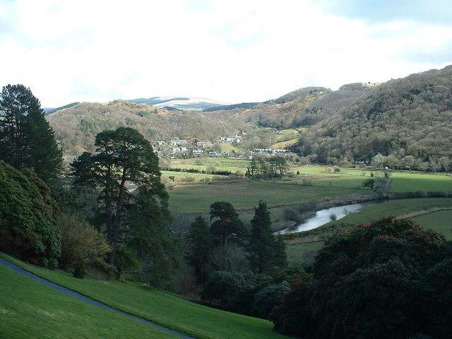 Plas Tan y Bwlch garden, looking towards Maentwrog - geograph.org.uk - 1043908