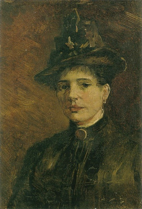 Portrait of a Woman with Hat f 0215c