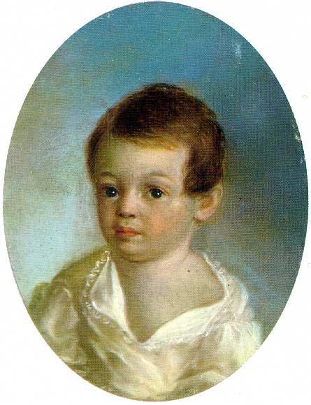 Портрет Пушкина работы Ксавье де Местра (1800—1802)
