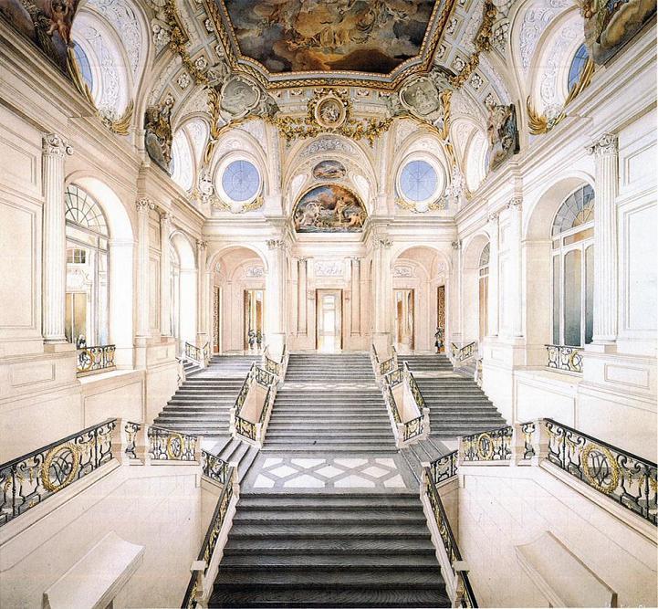 File recreaci n de la gran escalinata del palacio real de - Escaleras de piedra ...