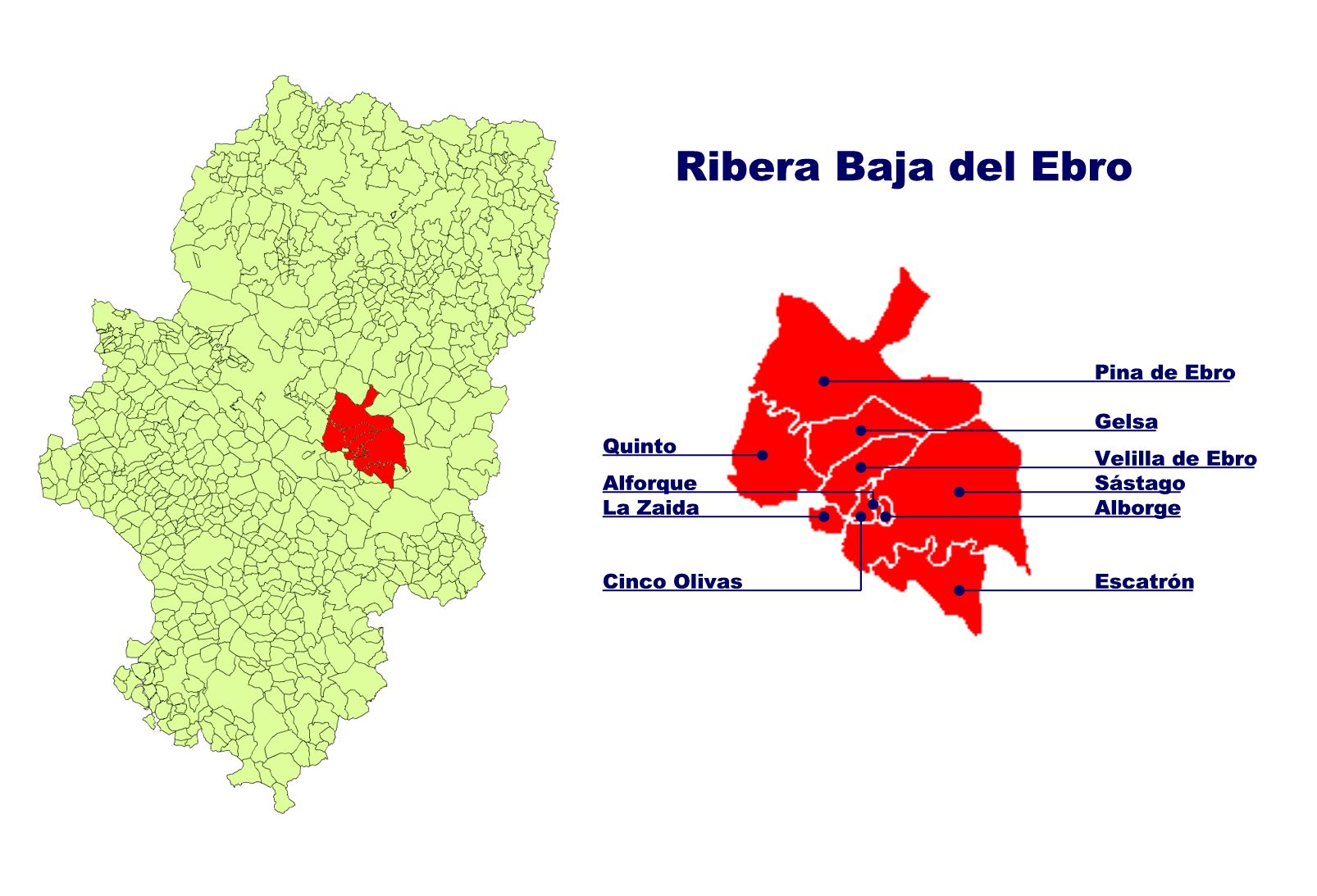 Depiction of Ribera Baja del Ebro