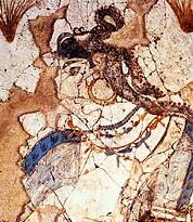 Η Πότνια Θηρών - τοιχογραφία Ακρωτήρι Θήρας