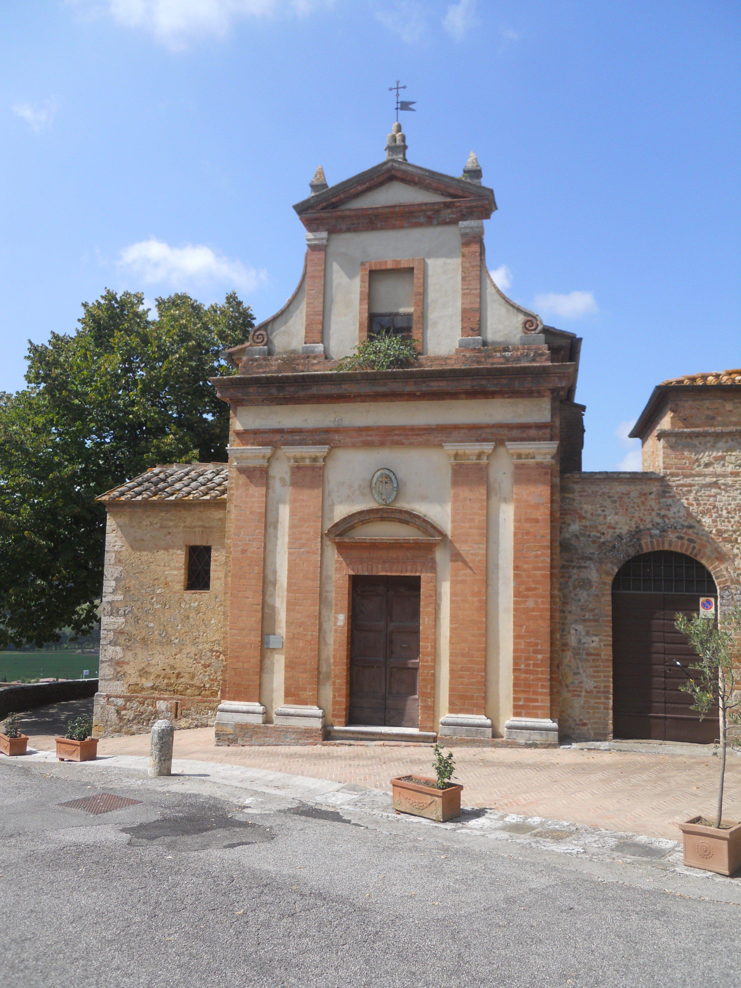 San Giovanni d'Asso, chiesa della Misericordia - Facciata.jpg