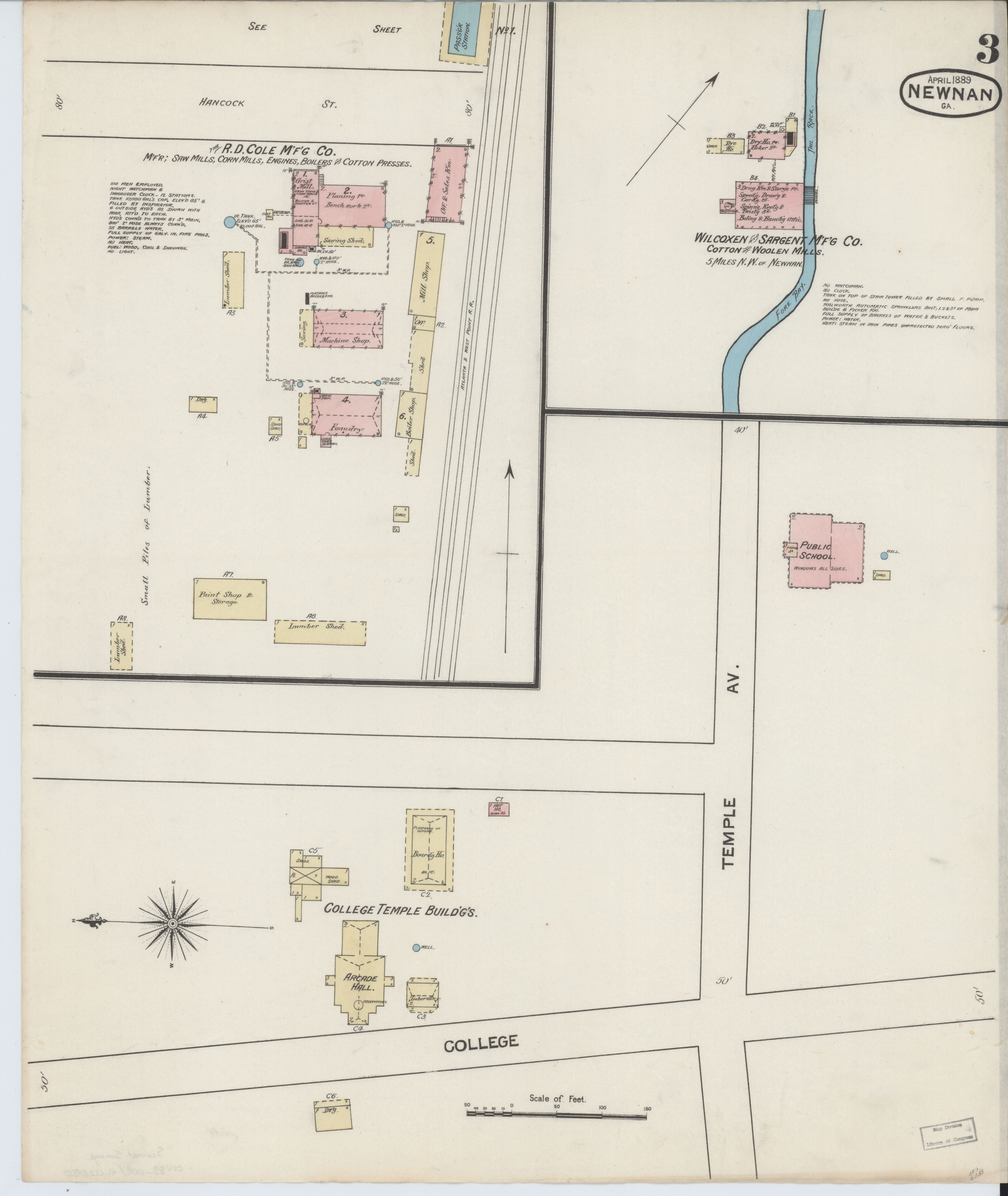 Newnan Georgia Map.File Sanborn Fire Insurance Map From Newnan Coweta County Georgia
