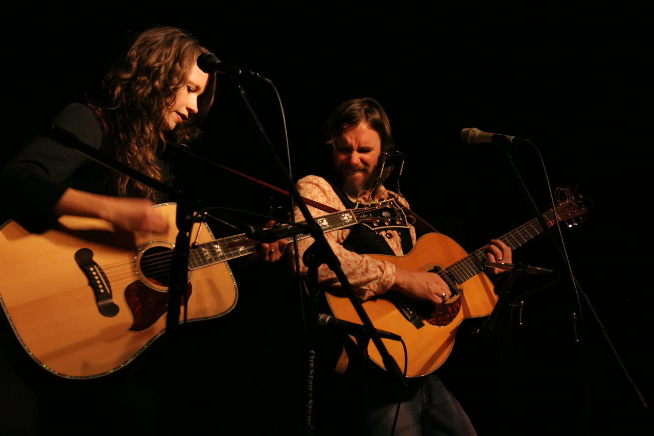 Sarah Lee Guthrie & Johnny Irion performing live for Valentine's Day 2008 at Tales From The Tavern at The Maverick Saloon in Santa Ynez, CA.