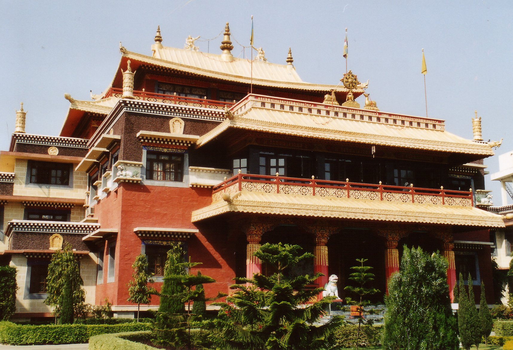 Temple of the Tibetan community in Sarnath