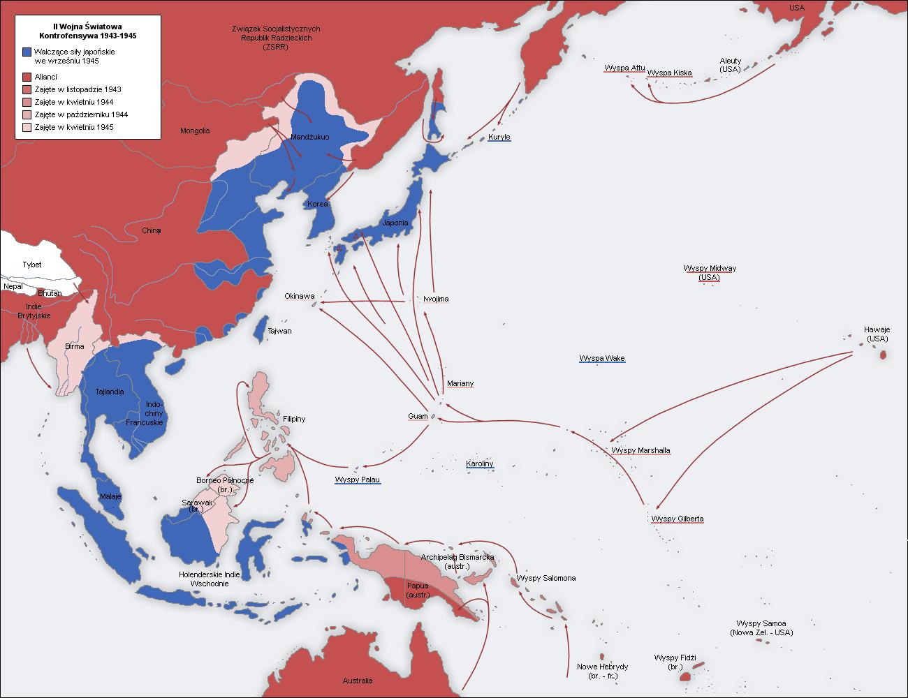 Plik Second world war asia 1943 1945 map Wikipedia wolna encyklopedia