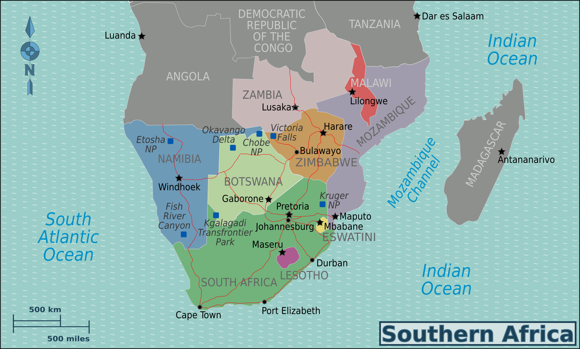 Southern Africa Map File:Southern Africa new map.png   Wikimedia Commons