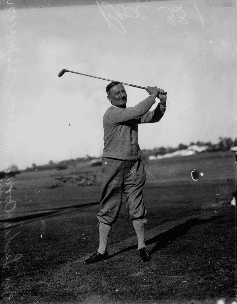 314eb59e7224 File StateLibQld 1 103574 Sir Leslie Orme Wilson playing golf
