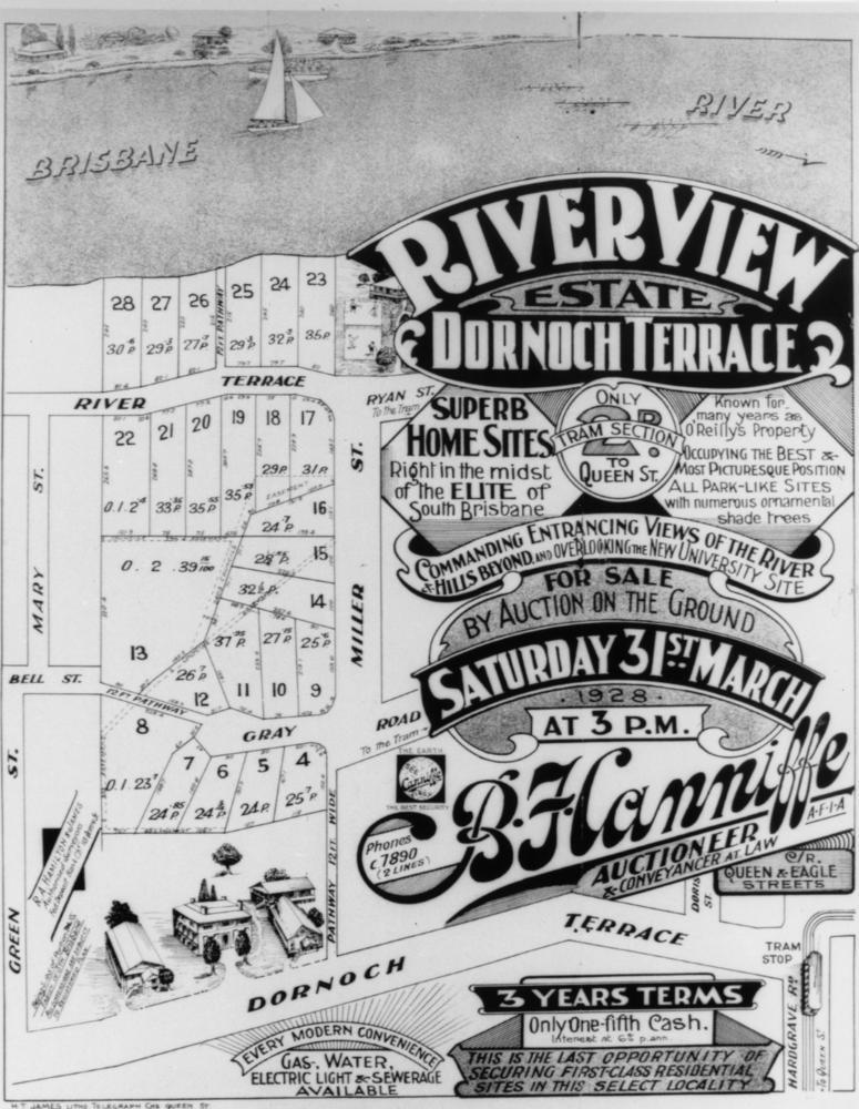 File statelibqld 2 206493 land sale handbill of riverview for 136 dornoch terrace highgate hill