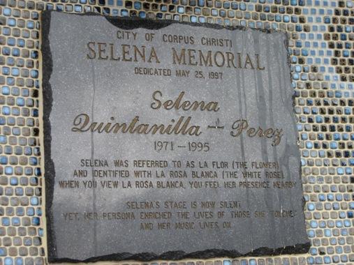 the selena memorial in corpus christi texas