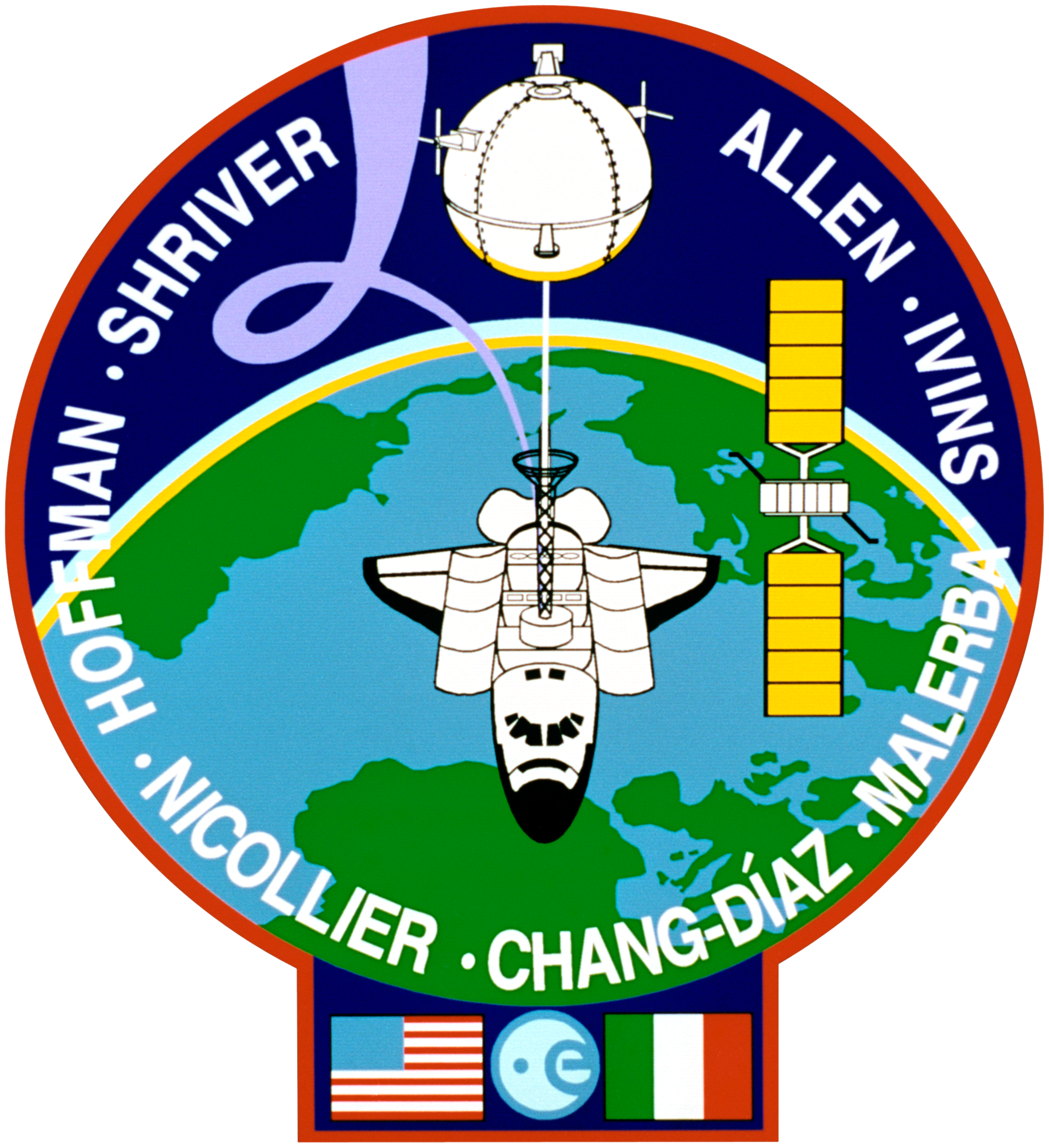 FOI collabora ufficialmente con la mostra Orbita Italia Sts-46-patch