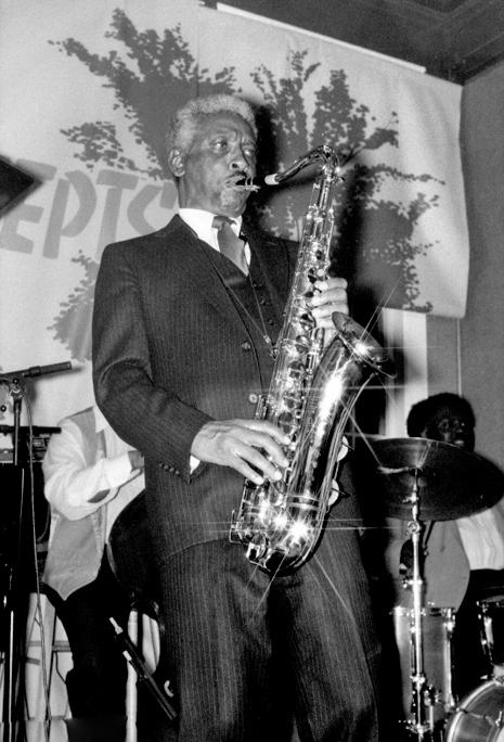 Teddy Edwards at Koncepts Kultural Gallery, Oakland CA  1980s