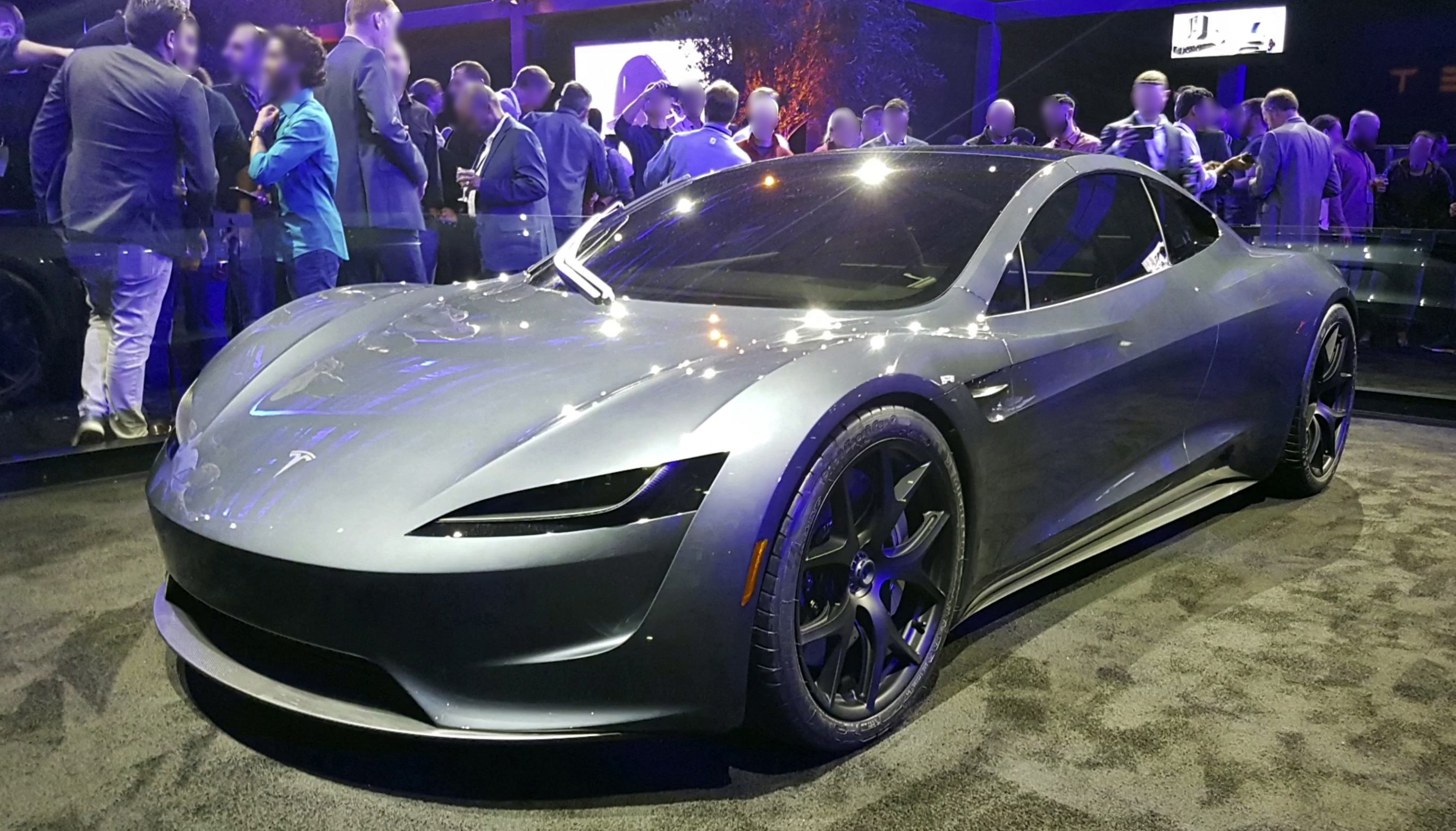Tesla Roadster 2020 Prototype At The Launch Event In November 2017