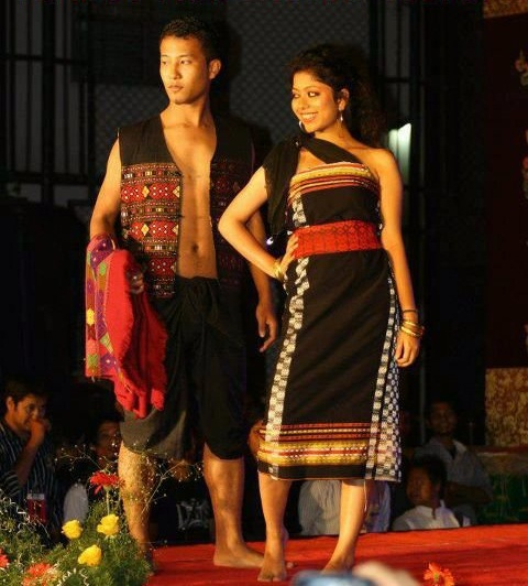 Native dress of Assam: Gamosa And Mekhla